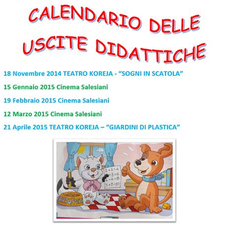 Calendario Uscite Didattiche