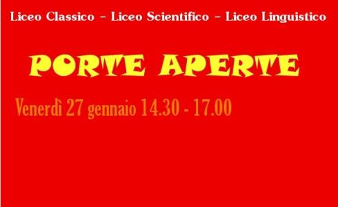 """L'Istituto di Cultura e Lingue Marcelline di Lecce vi aspetta con le """"PORTE APERTE"""", venerdì pomeriggio dalle ore 14.30 alle ore 17.00. Si potrà assistere alle lezioni (Liceo Classico, Liceo […]"""