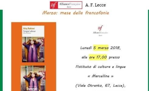 Lunedì 5 marzo 2018, presso il nostro Istituto, si svolgerà una conferenza organizzata dall'Alliance Française di Lecce nell'ambito delle manifestazioni che si svolgono in tutto il mondo, nel mese di […]