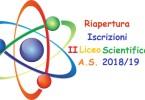 In seguito alle numerose richieste si riaprono le iscrizioni al II anno del Liceo Scientifico per l'anno scolastico 2018/19. Il Capo di Istituto Sr. Augusta Keller.