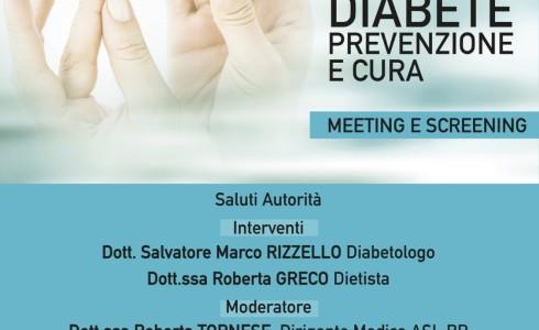 """Mercoledì 28 novembre alle ore 18.00 presso la sede dell'Istituto si terrà il meeting dal titolo """"Diabete prevenzione e cura""""."""