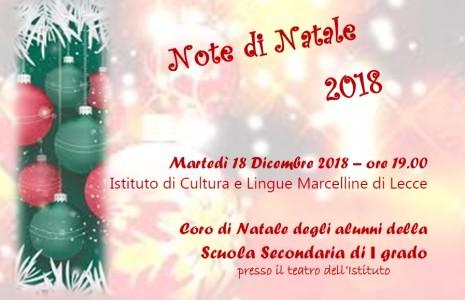 Martedì 18 Dicembre 2018 – ore 19.00 presso il teatro dell'Istituto di Cultura e Lingue Marcelline di Lecce Coro di Natale degli alunni dellaScuola Secondaria di Primo Grado. Locandina cori […]