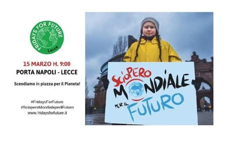 """Il Liceo Marcelline di Lecce aderisce alla manifestazione """"Fridays for future"""" che si svolgerà domani, 15 marzo a Lecce. Gli studenti e gli insegnanti si uniranno al corteo, che partirà […]"""