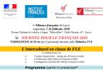 """L'Alliance française di Lecce organizza, il 18 febbraio 2020, presso l'Istituto di Cultura e Lingue """"Marcelline"""", Viale Otranto, 67 – Lecce la JOURNÉE POUR LE FRANÇAIS 2020 FORMAZIONE di 20 […]"""