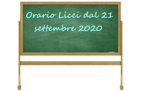 ApriOrario liceo dal 21 settembreper visualizzare l'orario.